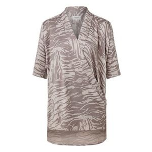 Seed Heritage Animal Print Longline Drape Wrap Top